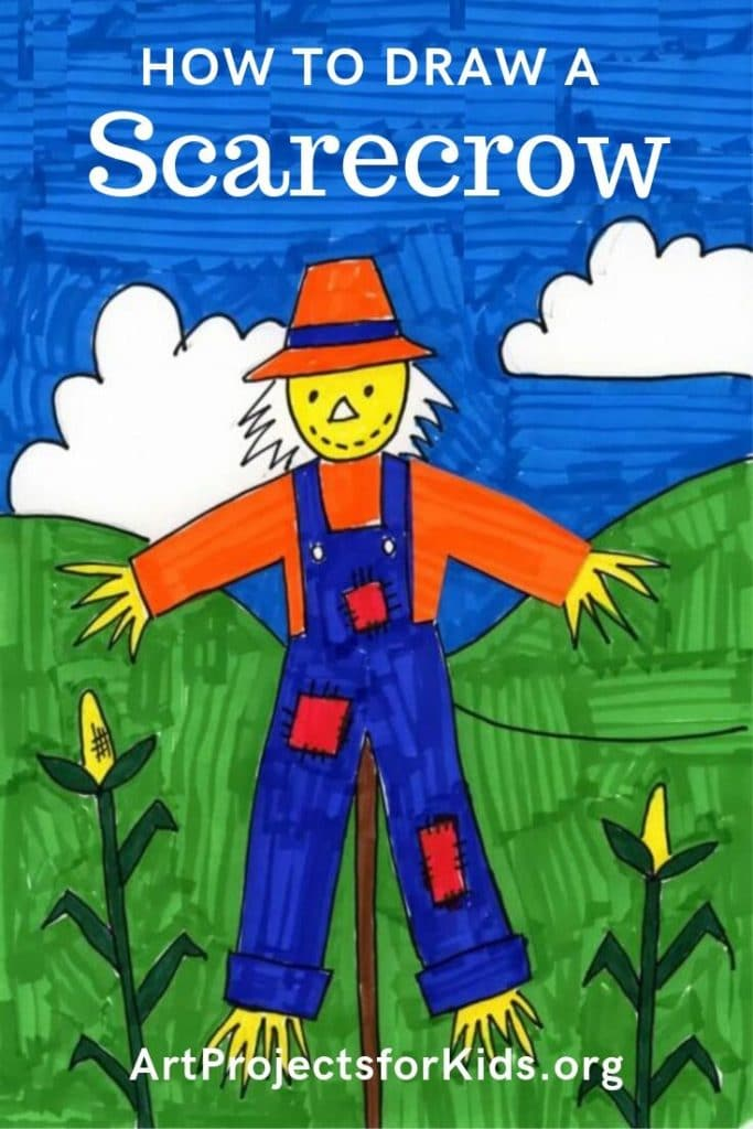 Make A Fun Scarecrow Drawing Art Projects For Kids