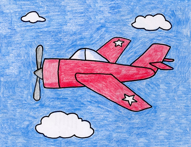 Draw A Ww2 Plane Art Projects For Kids