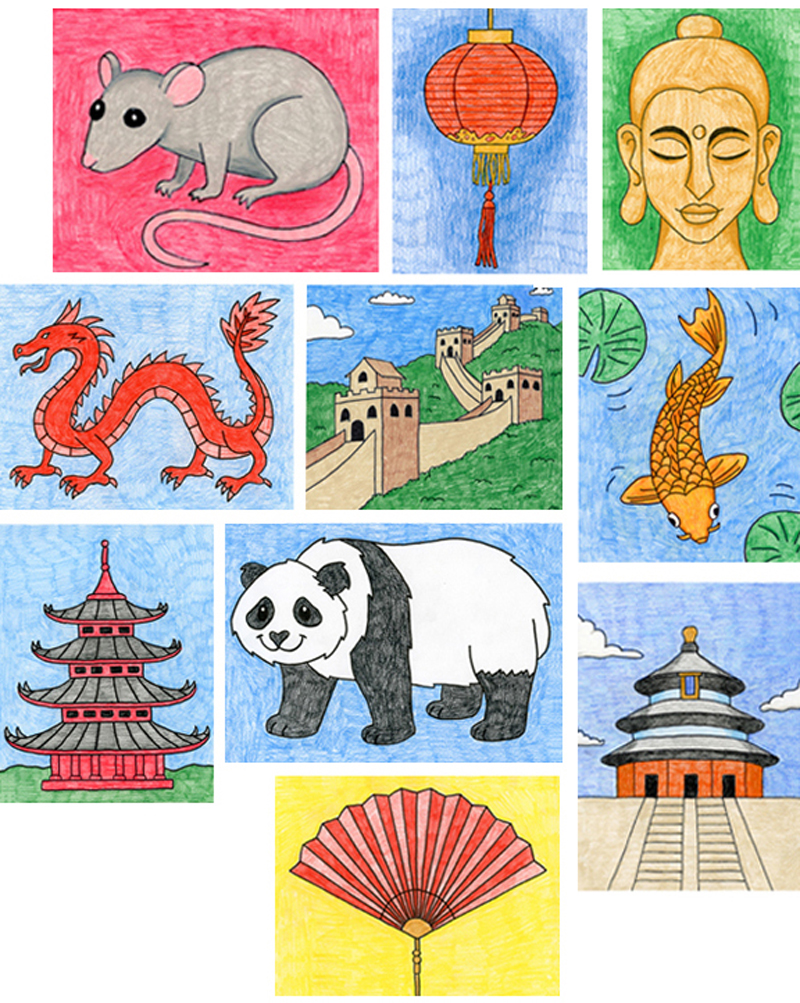 chinese drawings easy