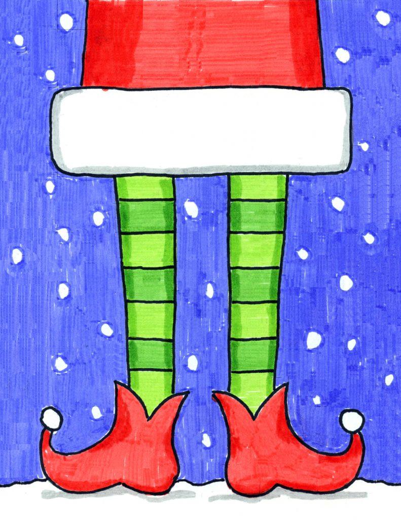 How to Draw Elf Legs