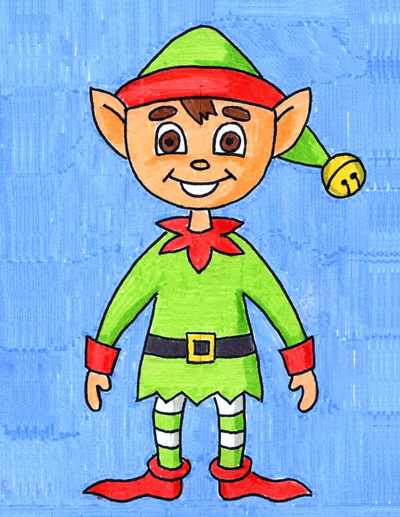 Elf Drawing Step By Art Projects
