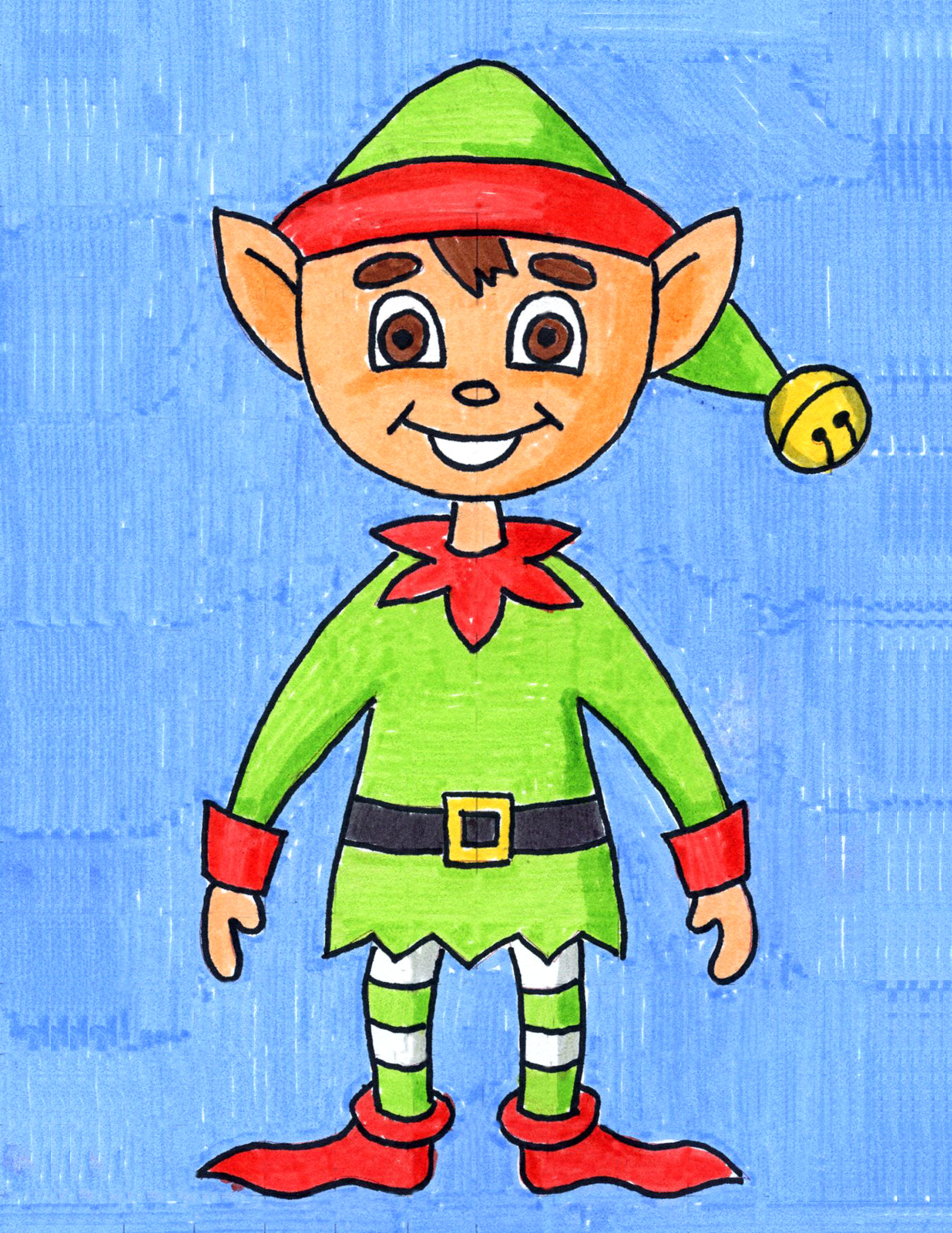 Elf Drawing Step By Step Art Projects For Kids