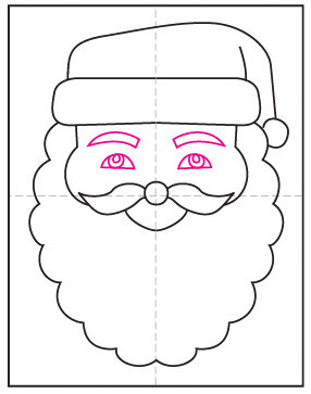 How to Draw Santa's Face · Art Projects for Kids