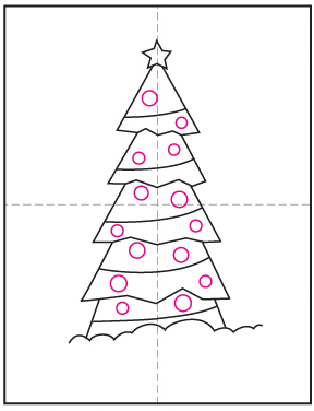How To Draw A Christmas Tree Art Projects For Kids