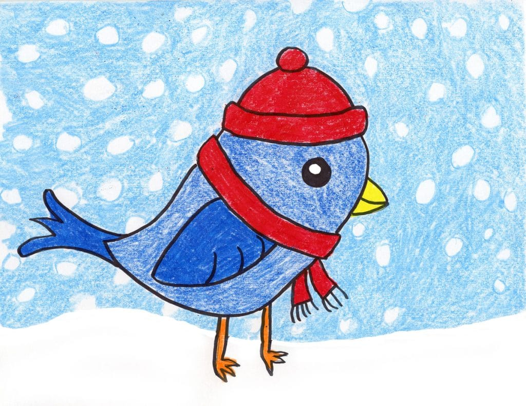 How To Draw A Cute Bird Art Projects For Kids