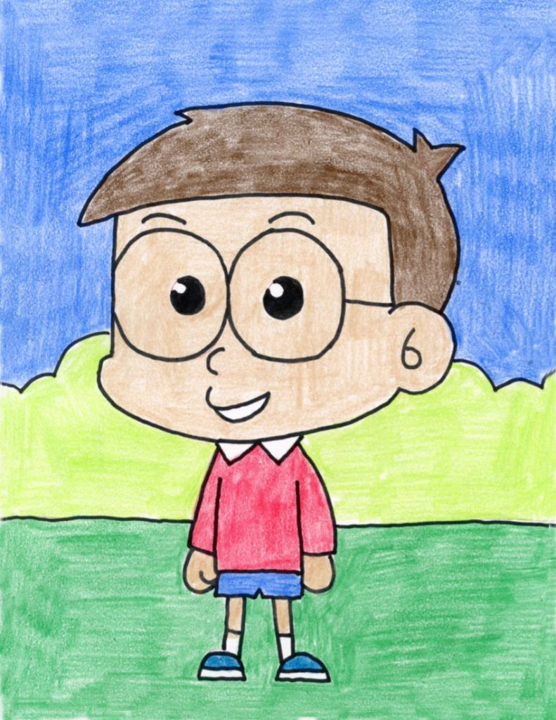 How To Draw A Cartoon Boy Art Projects For Kids