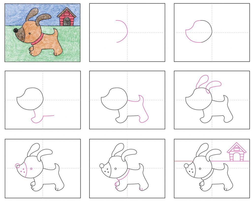 Draw a Cute Puppy · Art Projects for Kids