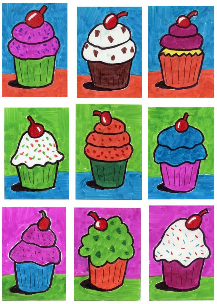 How To Draw LOTS Of Cupcakes · Art Projects For Kids