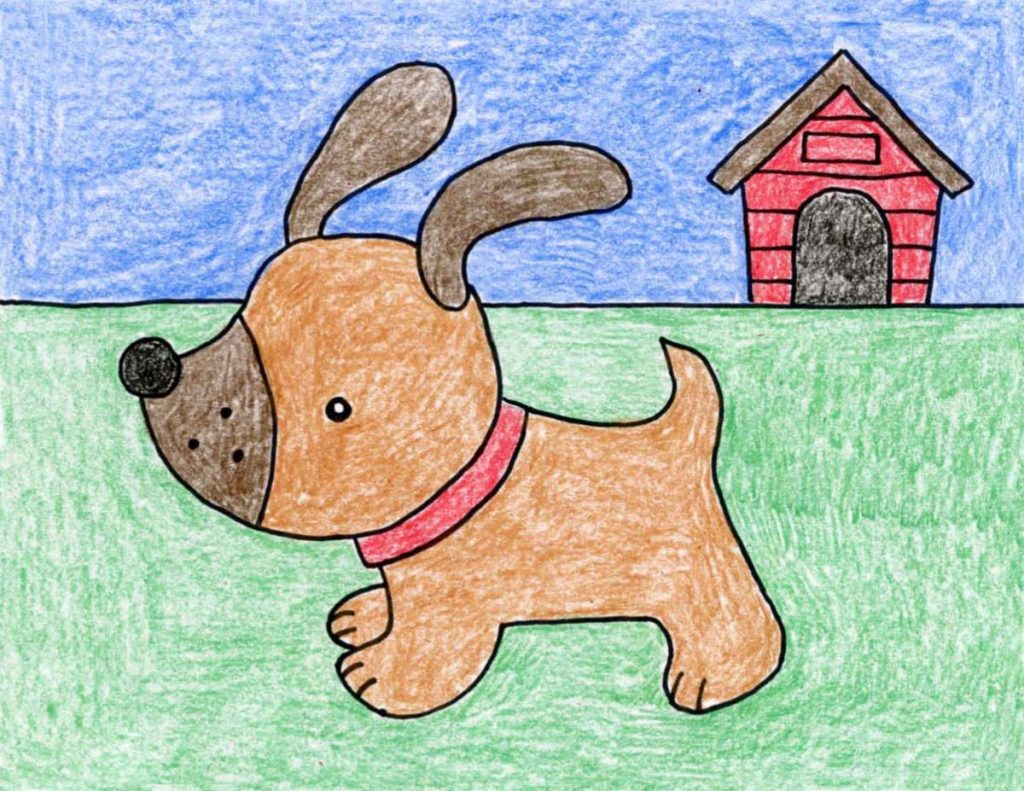 Draw A Cute Puppy Art Projects For Kids