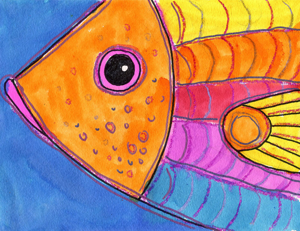 Draw a Fish Head · Art Projects for Kids
