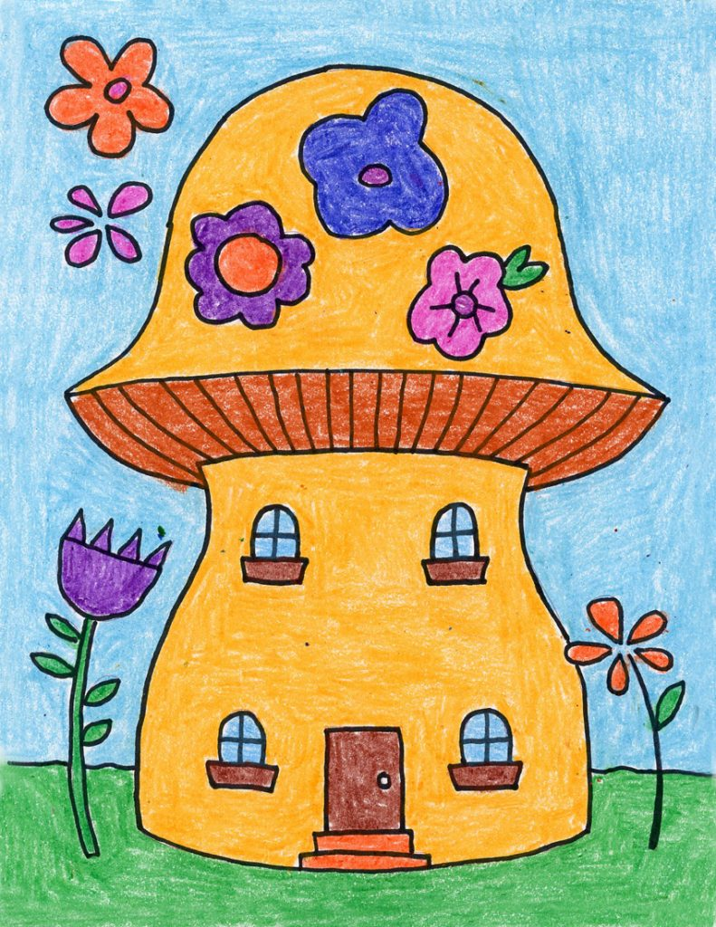 how to draw a fairy house