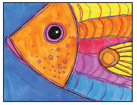 Draw A Fish Head Art Projects For Kids