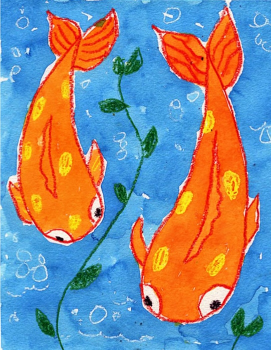 Here's an easy step-by-step how to paint a Koi Fish tutorial and Koi Fish coloring page. Stop by and download yours for free.