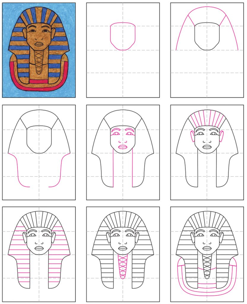 How To Draw King Tut · Art Projects for Kids
