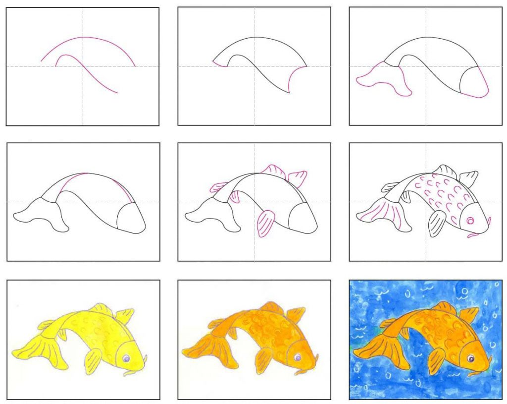 Draw a Koi Fish Step by Step