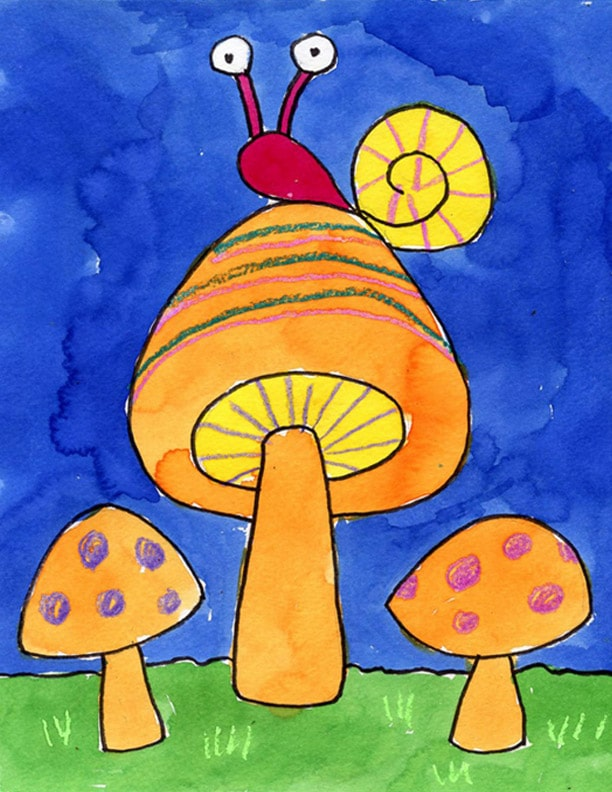 How to Draw Mushrooms