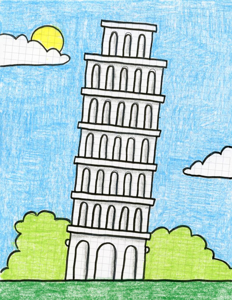 Leaning Tower Of Pisa Cartoon