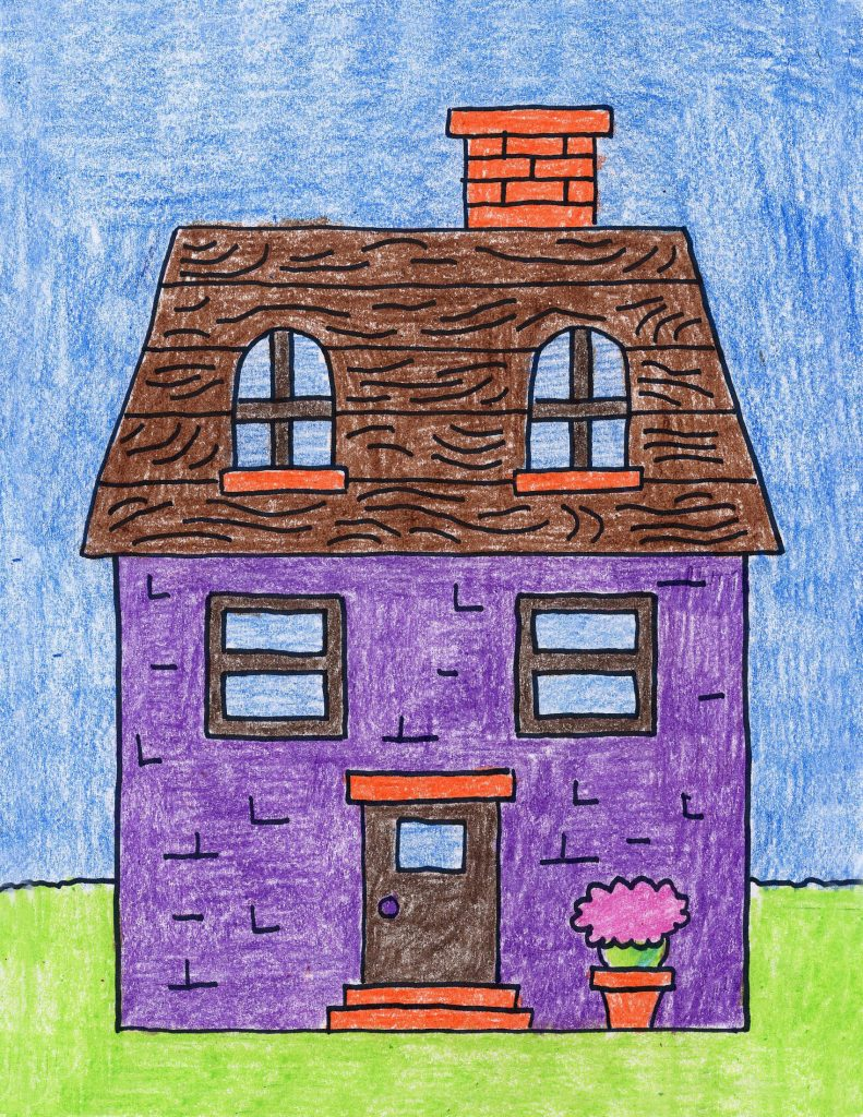 Draw a House · Art Projects for Kids