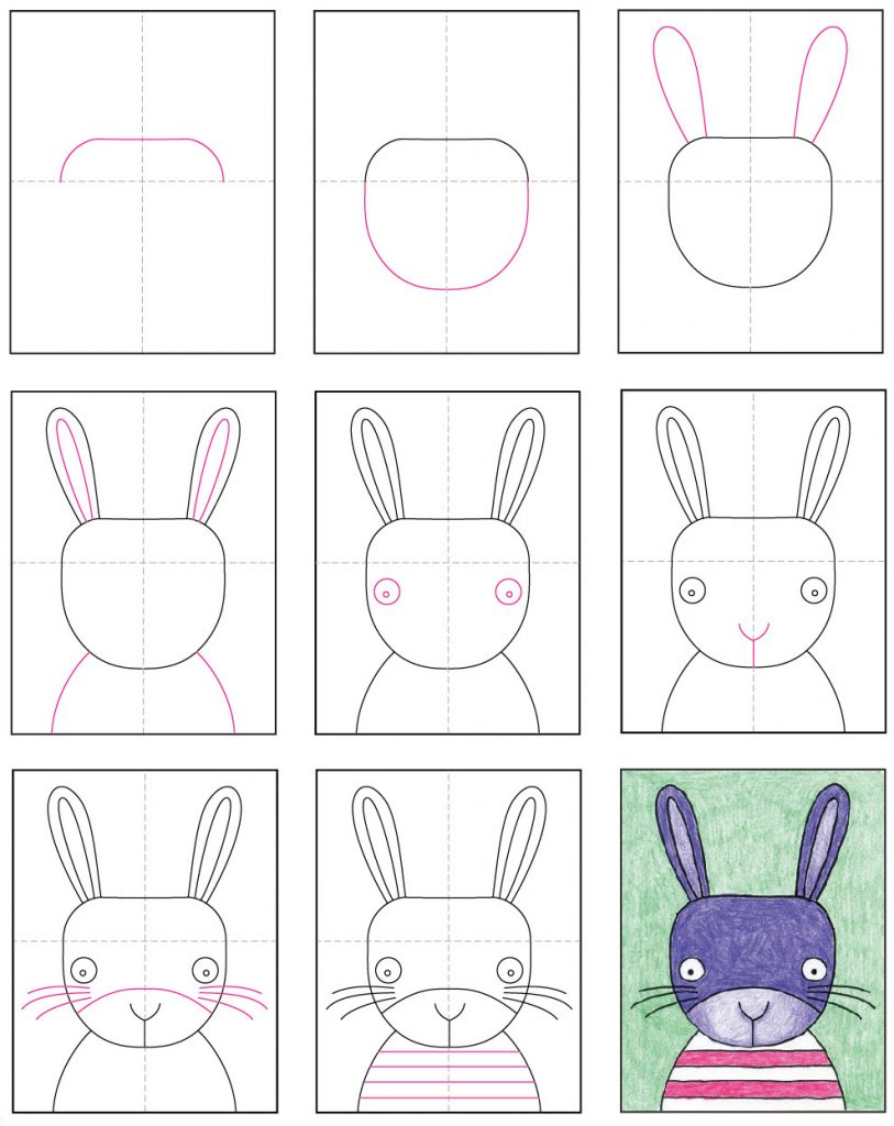 - Draw A Cute Bunny Face · Art Projects For Kids