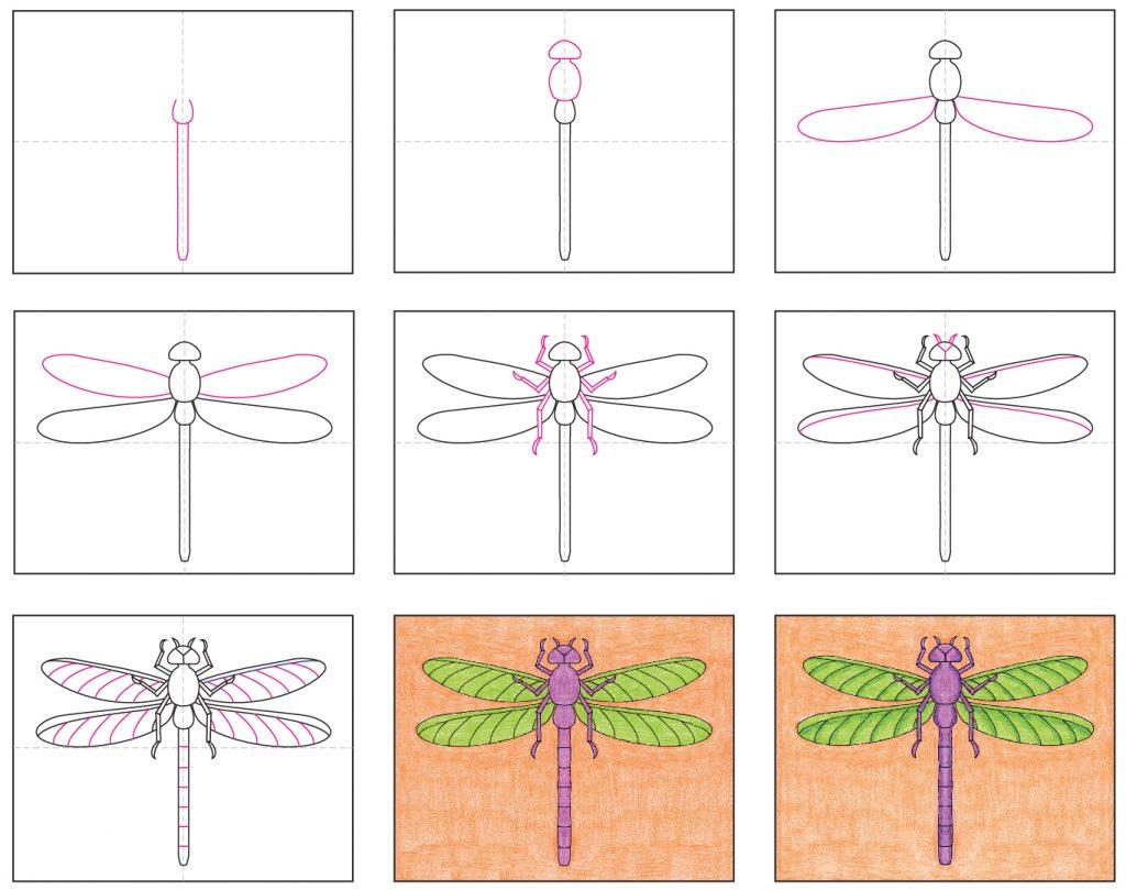 draw a dragonfly