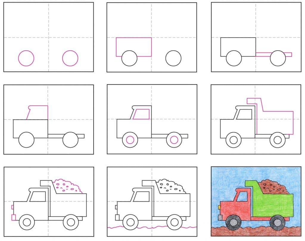 Draw a Dump Truck · Art Projects for Kids