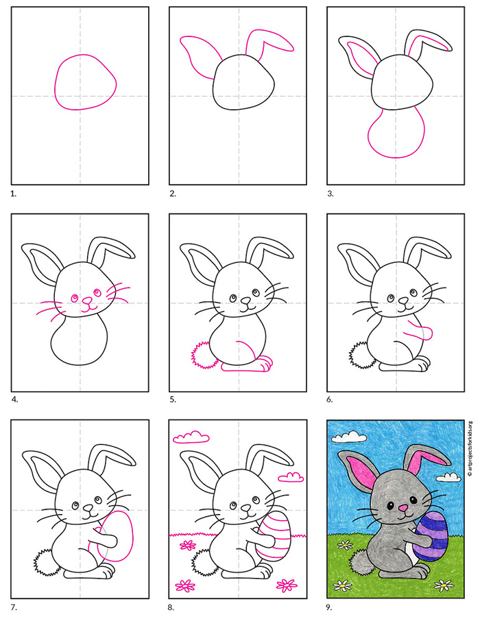 How to Draw the Easter Bunny