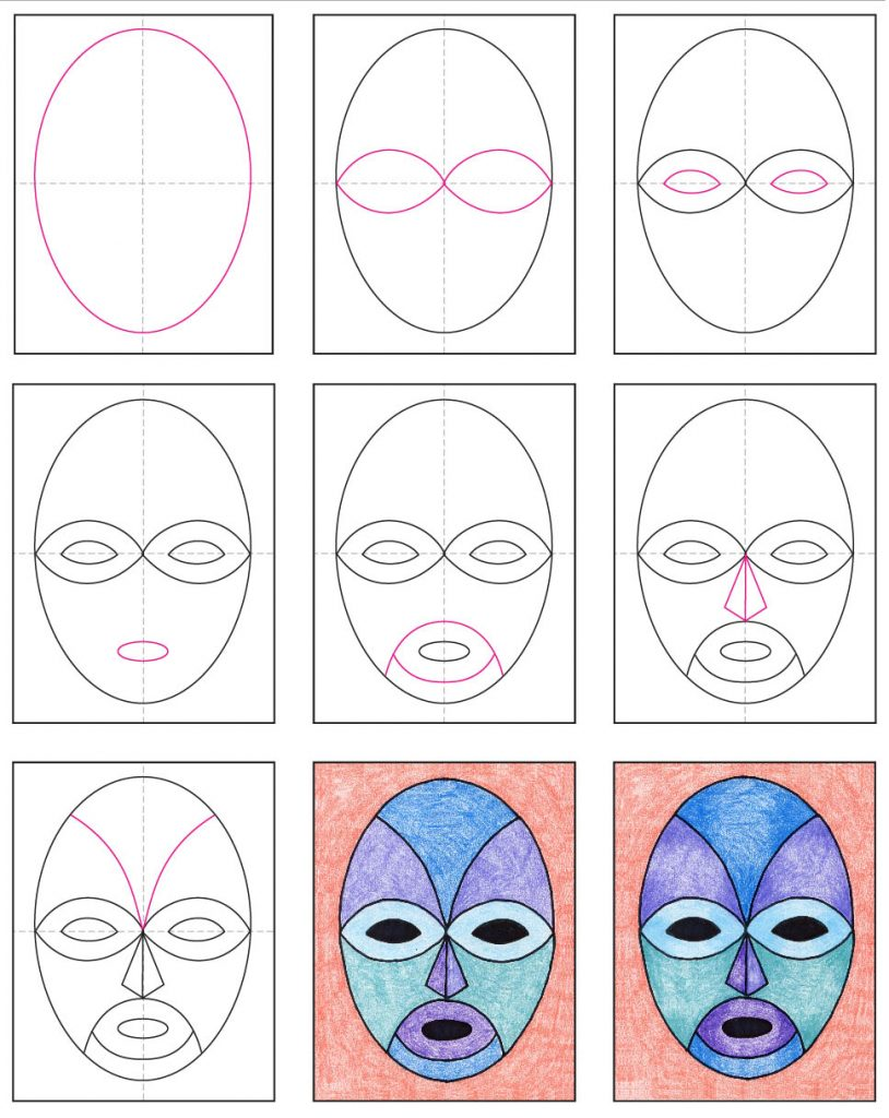 how to draw a mask