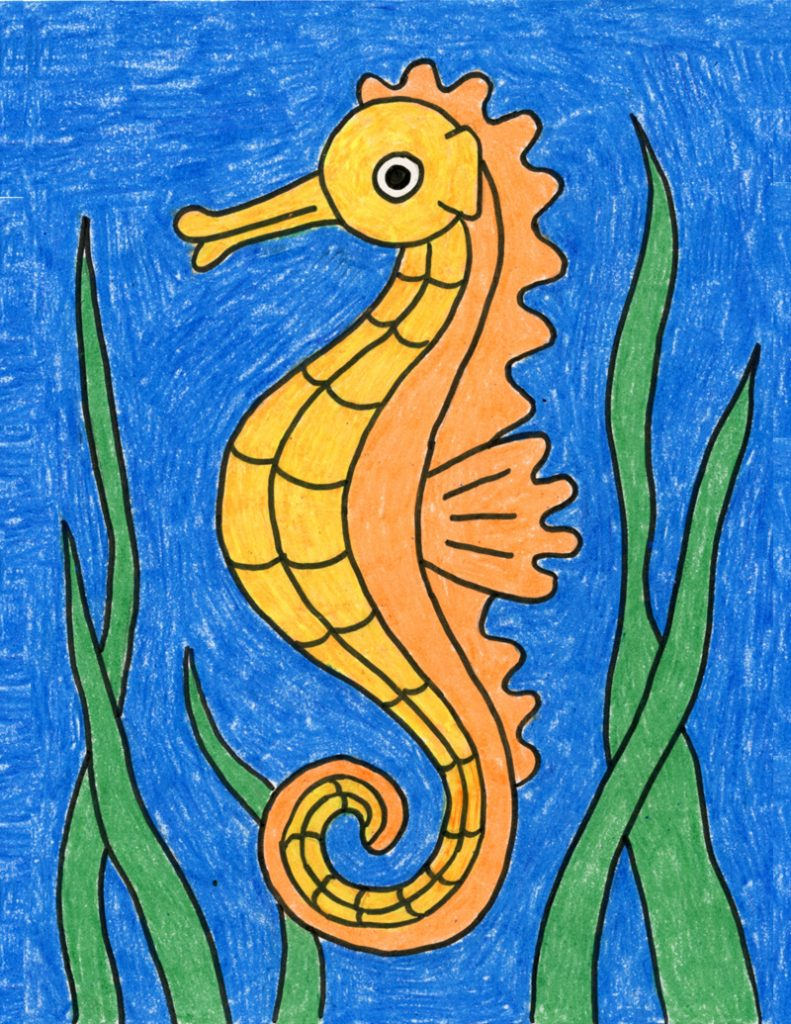 Draw A Seahorse Art Projects For Kids