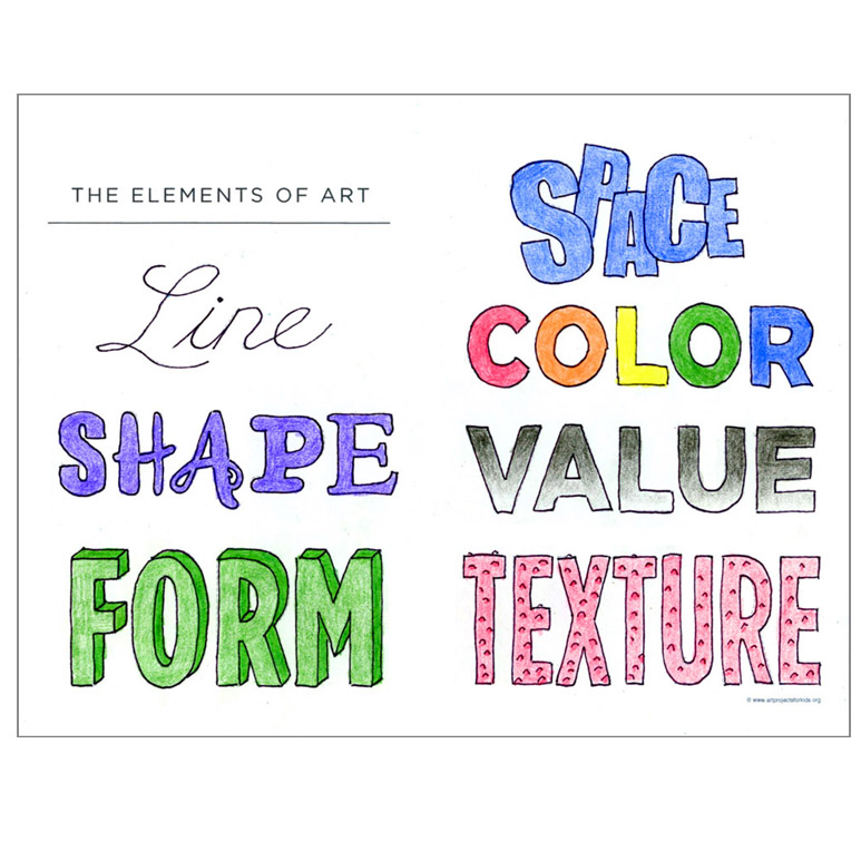 Elements of Art Worksheet · Art Projects for Kids