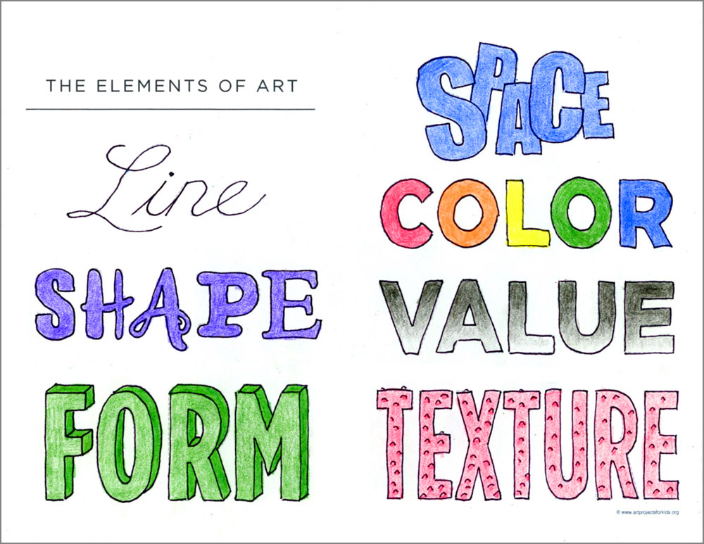 Elements of Art Worksheet