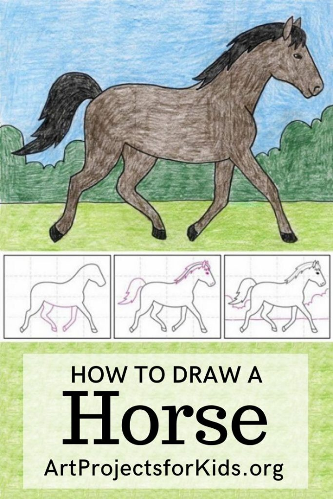 how to draw a horse running