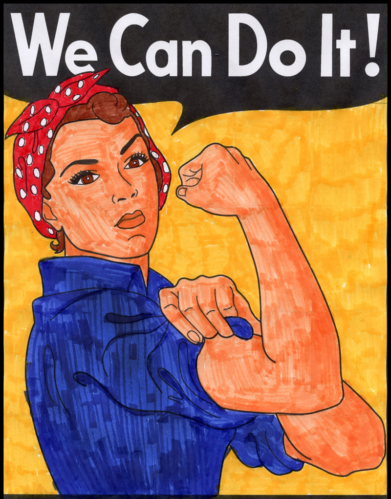 We Can Do It Mural v3 – Activity Craft Holidays, Kids, Tips
