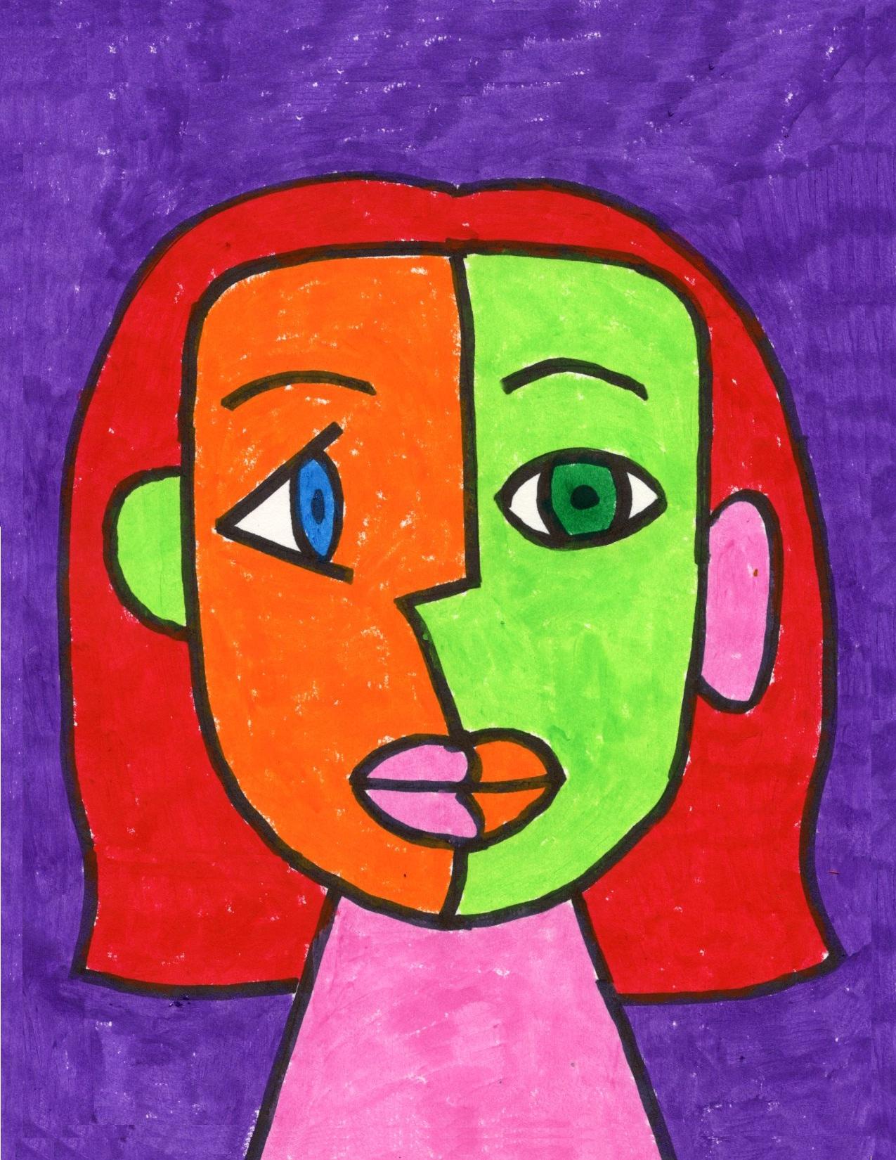 Draw A Cubism Portrait Art Projects