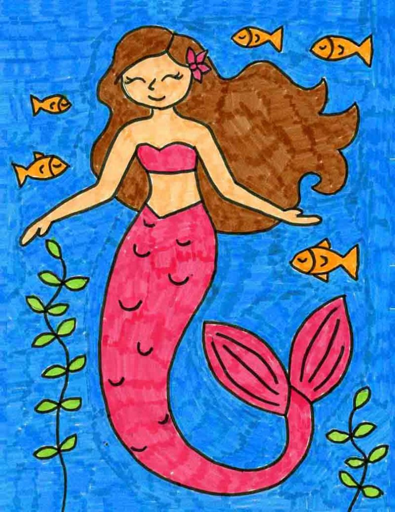 How to Draw a Mermaid · Art Projects for Kids