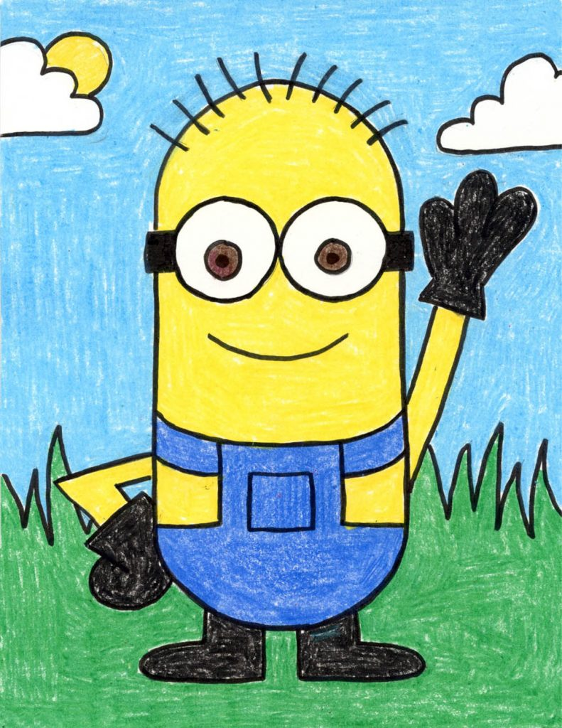 How To Draw A Minion Art Projects For Kids