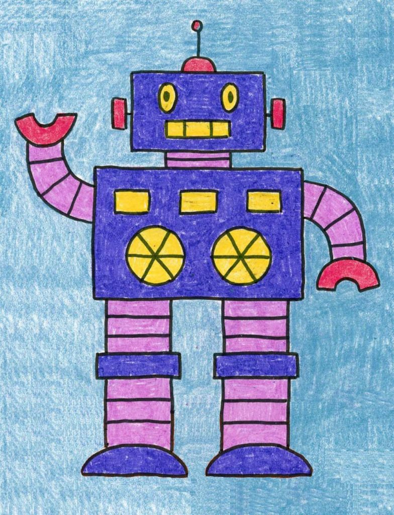 How to Draw a Robot · Art Projects for Kids