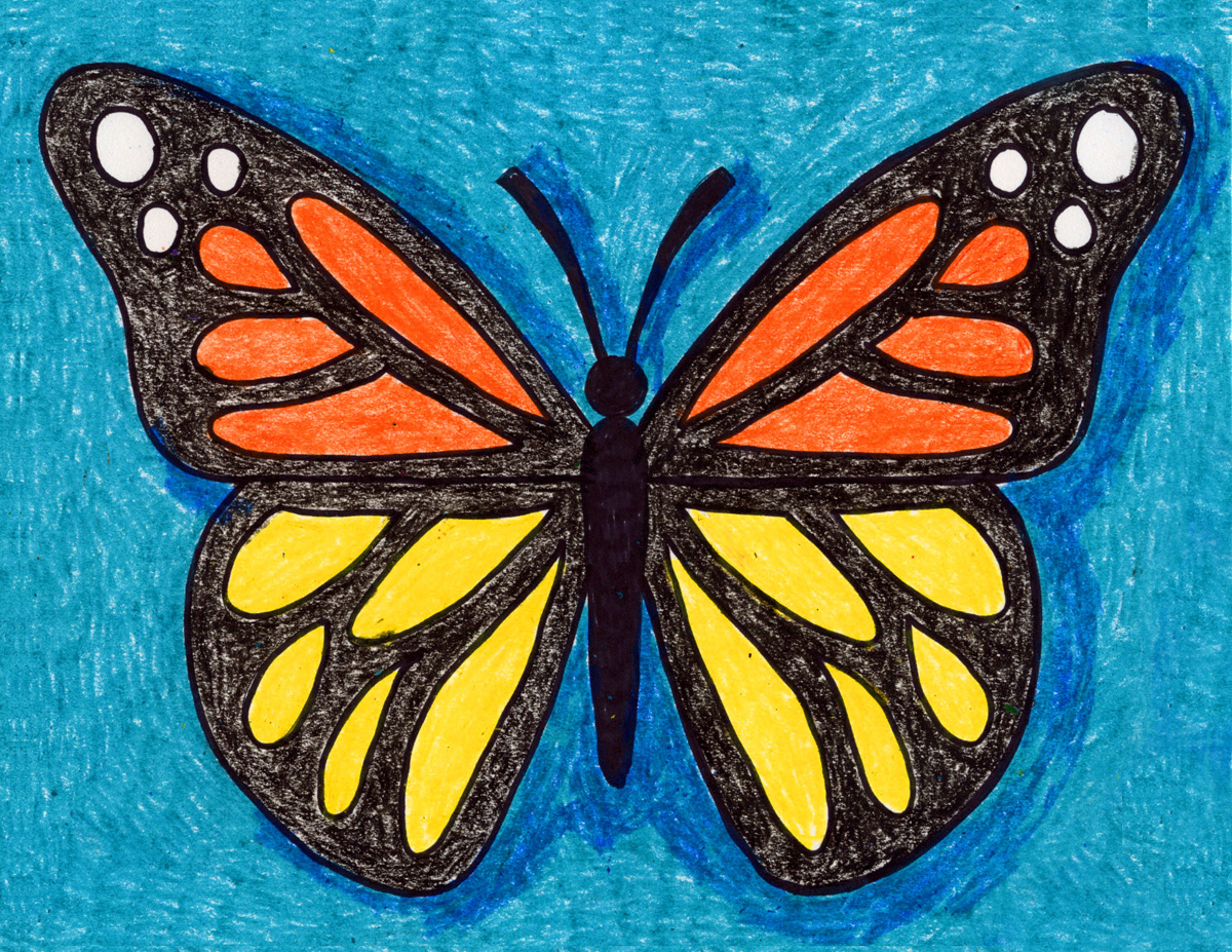 How To Draw A Butterfly Art Projects For Kids