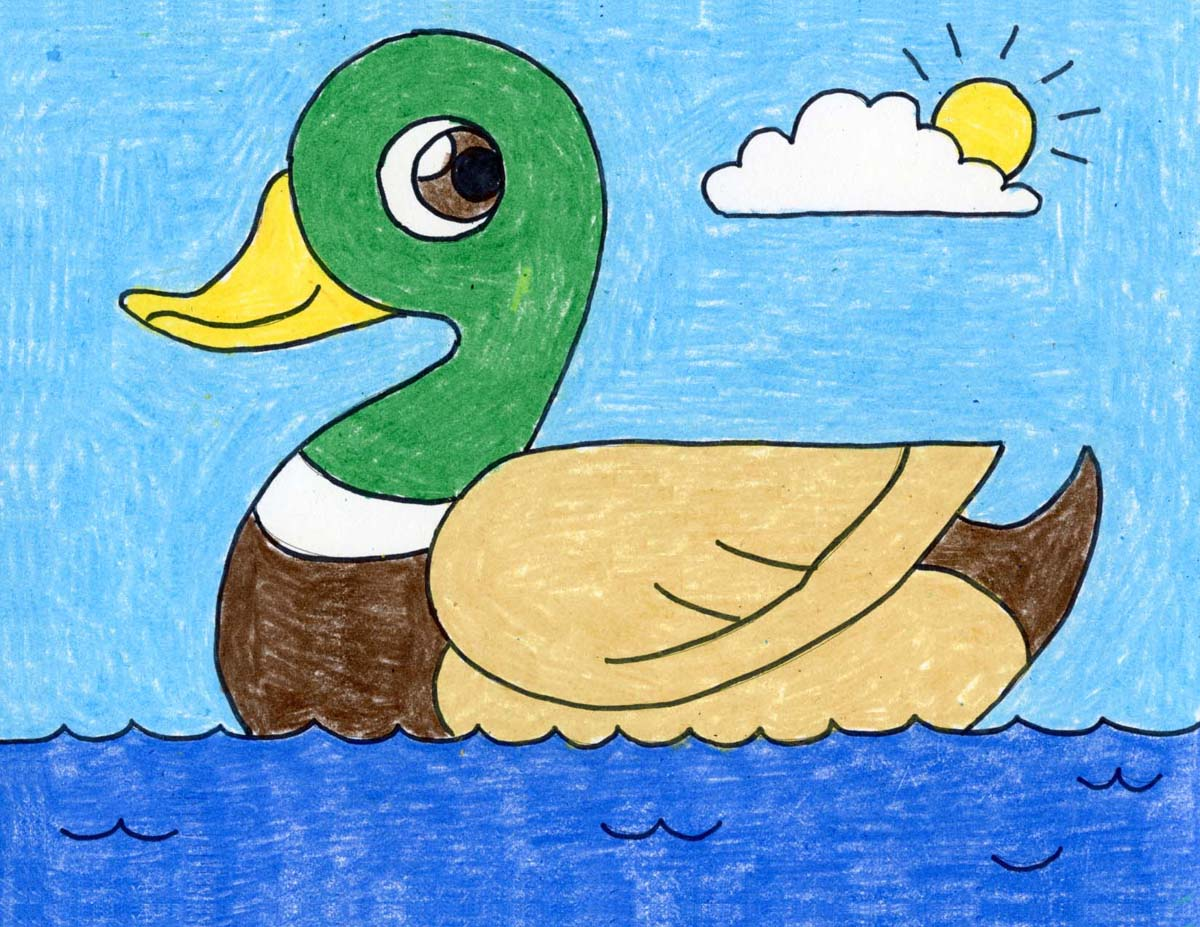 How To Draw A Duck Art Projects For Kids
