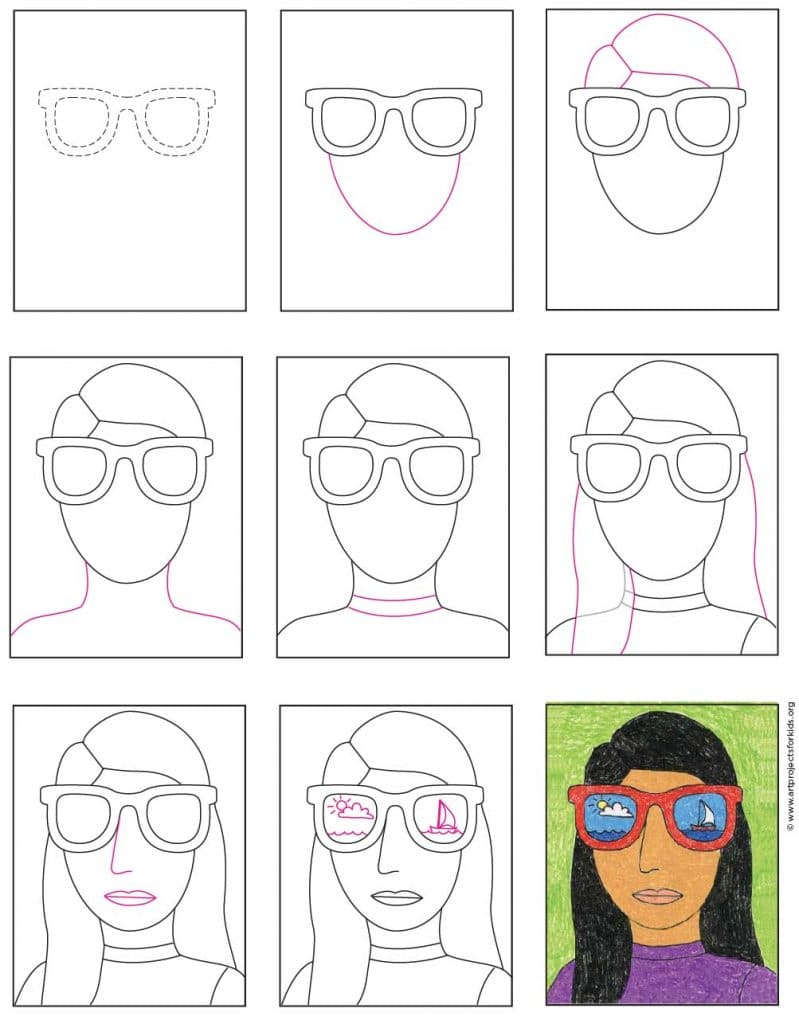 Draw A Portrait With Sunglasses Art Projects For Kids