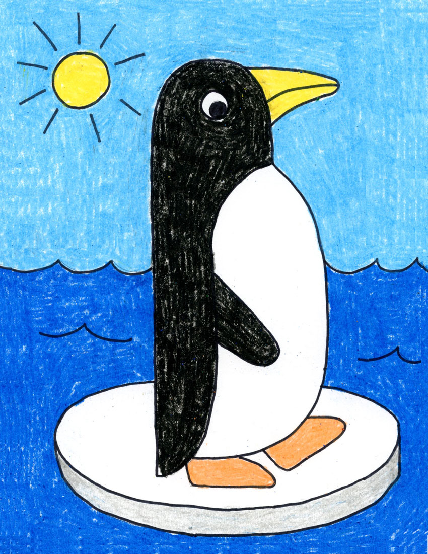 Draw An Easy Penguin Art Projects For Kids