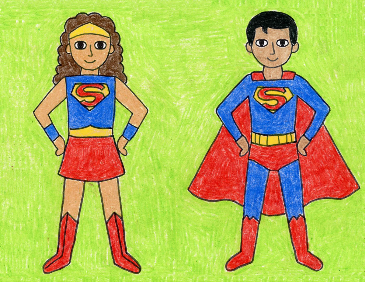 How To Draw A Superhero Art Projects For Kids