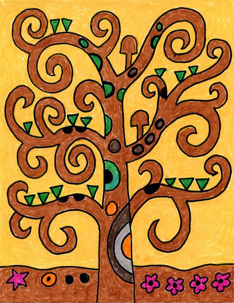 How To Draw The Tree Of Life Art Projects For Kids