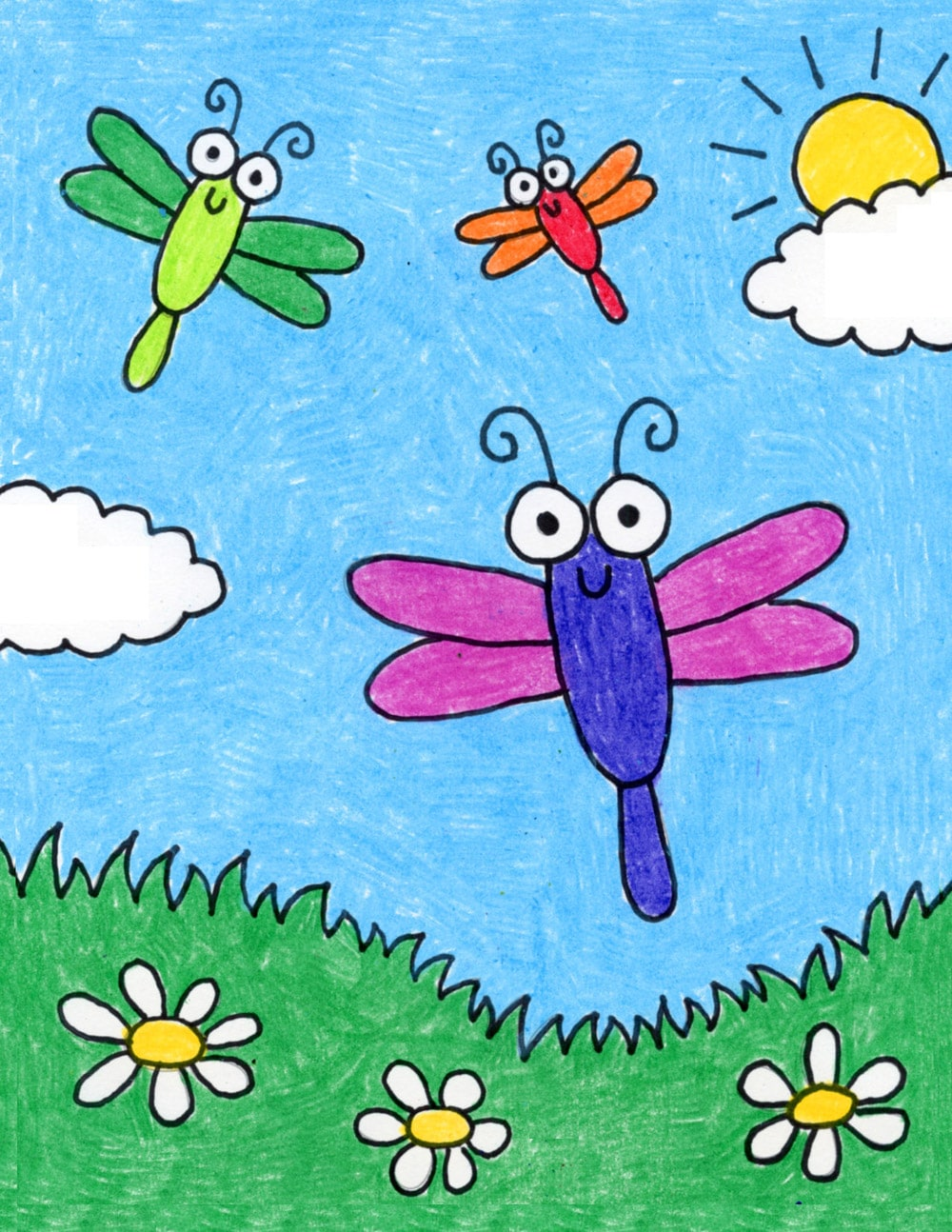 How To Draw Cartoon Bugs Art Projects For Kids