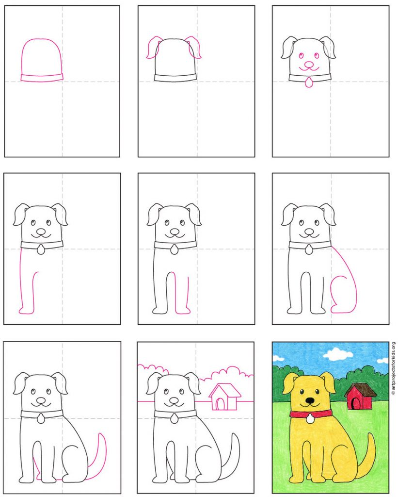 How To Draw A Dog Art Projects For Kids
