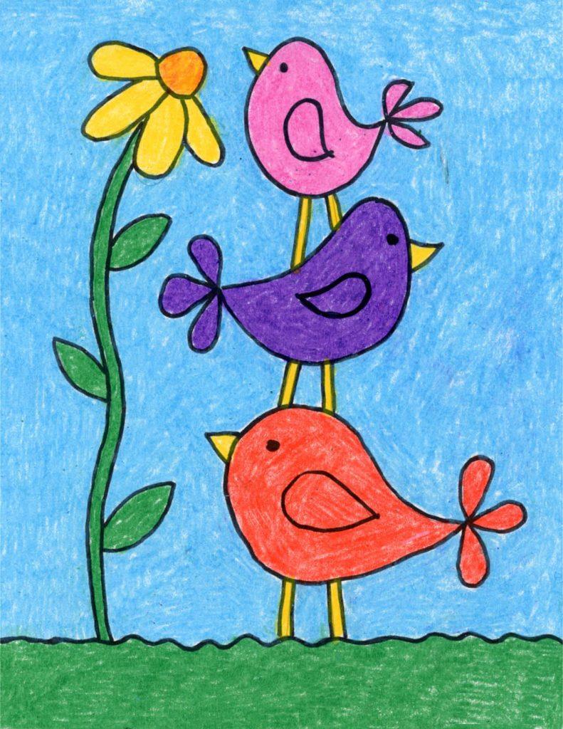 Draw Simple Birds – Activity Craft Holidays, Kids, Tips