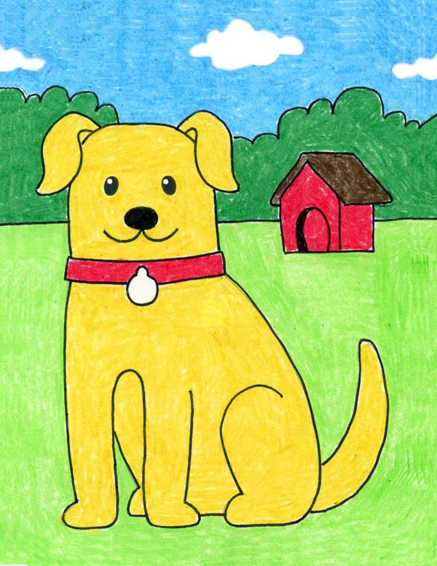 How to Draw a Dog · Art Projects for Kids