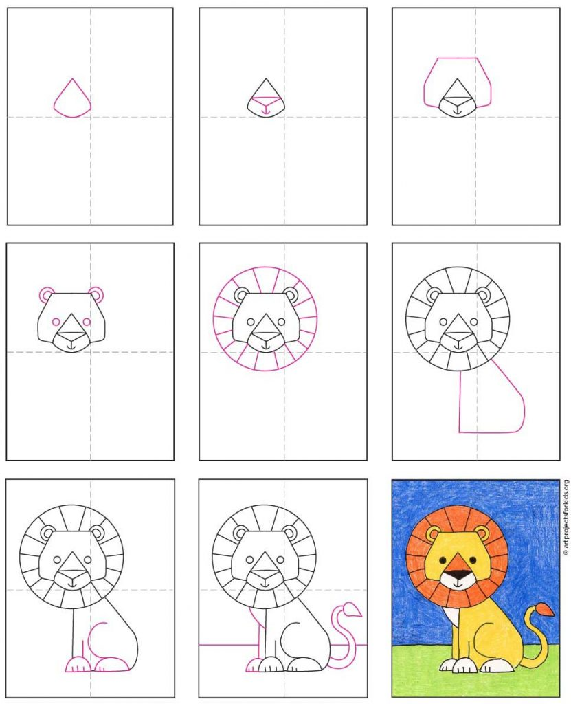how-to-draw-a-lion-for-kids