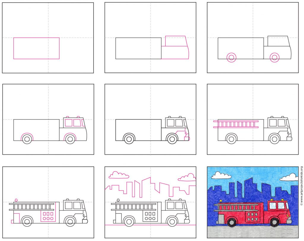 how to draw a fire truck · art projects for kids  art projects for kids
