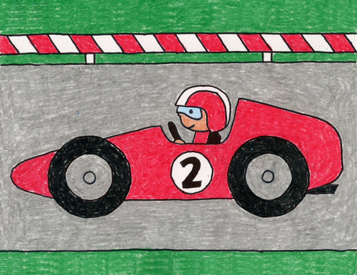 Draw A Race Car Art Projects For Kids