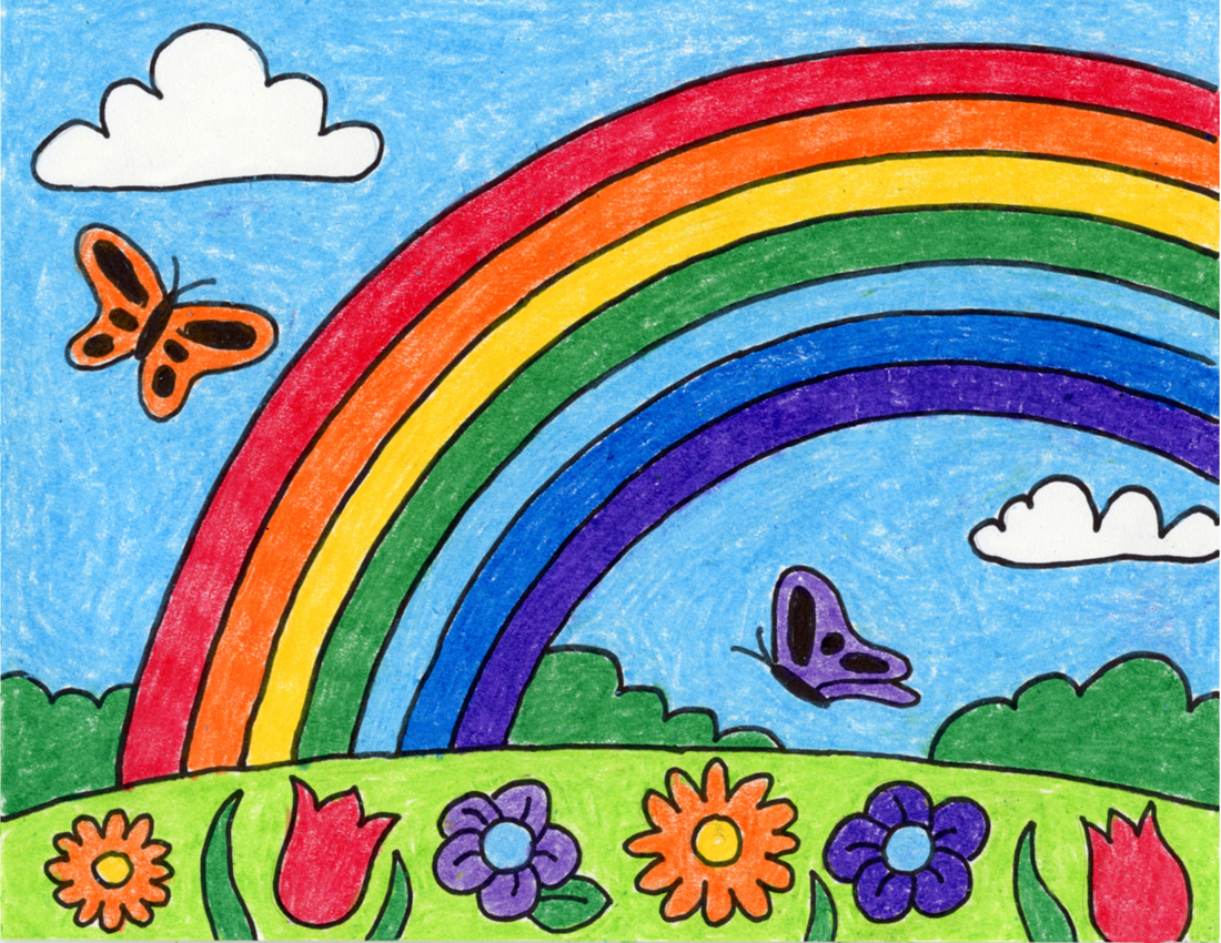 How To Draw A Rainbow Art Projects For Kids